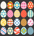 colourful easter eggs flat design set 2 vector image