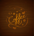 composition with coffee and coffee cups vector image vector image