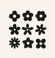 cute simple flowers basic floral shapes vector image vector image