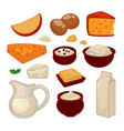 dairy products colorful set isolated on vector image vector image