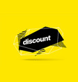 discount banner template with polygonal shapes vector image vector image