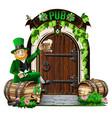 door to the irish pub vector image