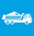 dump track icon white vector image vector image