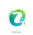 ecology lowercase letter z logo overlapping vector image vector image