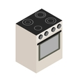 Electric stove icon isometric 3d style vector image