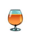 glass of cognac brandy vector image