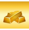 Gold bars vector image
