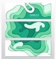 green abstract layout - set modern colorful vector image vector image
