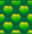 green apple seamless pattern vector image