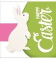 Happy Easter lettering greeting card with bunny vector image vector image
