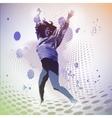 jumping girl vector image