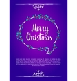 Merry christmas Calligraphy clip-art vector image
