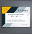 modern certificate design in yellow geometric vector image vector image
