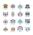 municipal city buildings library bank hospital vector image