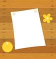 Note book on a wooden desk vector image