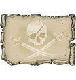 paper background with skull and sabers vector image vector image