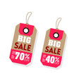 price tag big sale up to 70 40 off image vector image vector image
