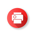 print red flat design long shadow glyph icon vector image