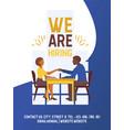 recruiting poster social vector image