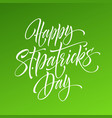 saint patrick day greeting lettering design vector image vector image