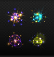 set of glow light effects isolated vector image vector image