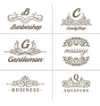 set of vintage coffee shop calligraphy logos vector image