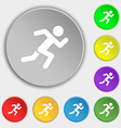 simple running human icon sign Symbol on eight vector image vector image
