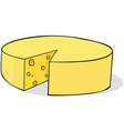 sliced cheese vector image
