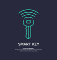 smart key global digital technologies vector image vector image