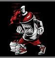 spray paint skull face graffiti cartoon character vector image vector image