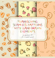 thanksgiving seamless patterns vector image vector image