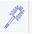 toilet brush doodle navy line icon on vector image