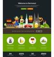 traveling to germany website header banner vector image
