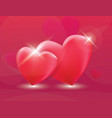 two red heart love vector image