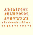 victorian alphabet in ancient style antique old vector image