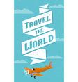 Vintage travel background vector image vector image
