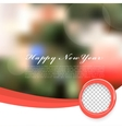 Winter Christmas Blurred Glow Snowflakes vector image vector image