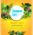 yelloe party poster vector image vector image