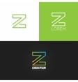 letter Z logo alphabet design icon set background vector image