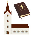 Church and bible vector image
