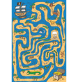 pirate maze vector image
