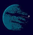 abstract technology big data map world vector image