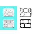 aluminium food tray with five holes vector image vector image