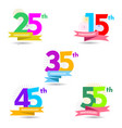 anniversary celebration collection vector image vector image