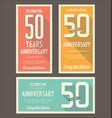 anniversasry background 50 years vector image vector image