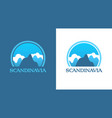 badges with scandinavian mountains vector image vector image