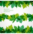 border with green leaves vector image vector image