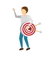 business man with strategy target vector image