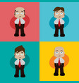 businessman manager at work cartoon art vector image