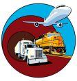 cargo transportation vector image vector image